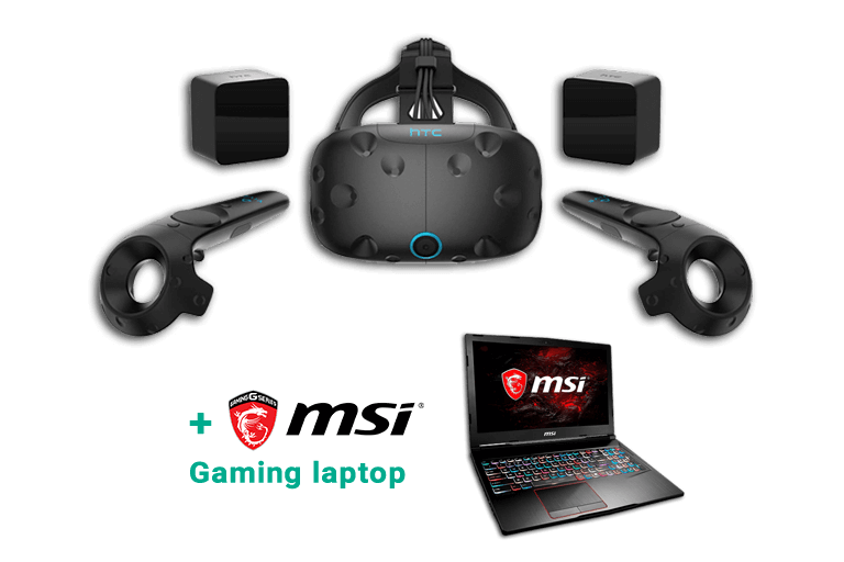 HTC Vive + MSI Gaming Laptop huren